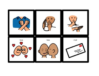 American Sign Language Match Cards: Valentine's Day (Gen. Ed. or ESE)