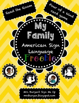 American Sign Language: My Family FREEBIE