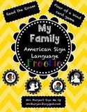 American Sign Language: My Family FREEBIE