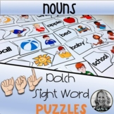 American Sign Language NOUN Dolch Sight Word Puzzles