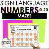 ASL American Sign Language Number Maze