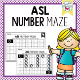 American Sign Language ASL Number Maze