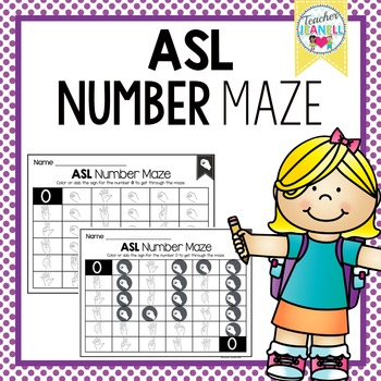 American Sign Language Number Maze