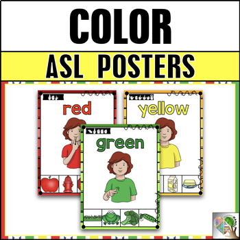 It is a photo of Canny Sign Language Colors Printable
