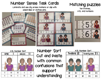 American Sign Language  Number Sense 0-21