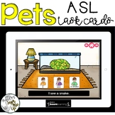 American Sign Language PETS Boom Cards™  Distance learning