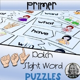 American Sign Language PRIMER Dolch Puzzles