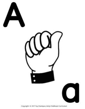 American Sign Language Poster (Aa-Zz)