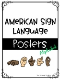 American Sign Language Posters - Alphabet