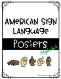 American Sign Language Posters - Alphabet