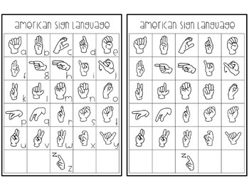 American Sign Language Posters and Personal Reference Cards