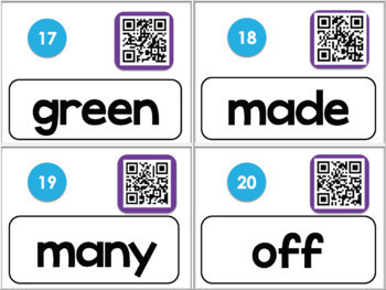 American Sign Language QR CODE (Dolch) Sight Word BUNDLE