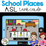 American Sign Language School Places Boom Cards™  Distance Learning