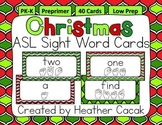 American Sign Language Sight Word Cards CHRISTMAS {Preprimer}