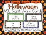 American Sign Language Sight Word Cards HALLOWEEN {Preprimer}