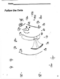 American Sign Language Snowman Dot-to-Dot