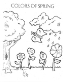 American Sign Language Spring Coloring Page