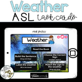 American Sign Language WEATHER Boom Cards™   Distance Learning