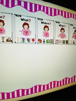 American Sign Language ASL WH- Question Posters