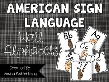 American Sign Language {Wall Alphabets}