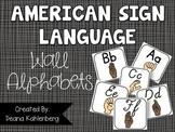American Sign Language {Wall Alphabets}