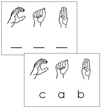 American Sign Language: Word Cards