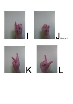 American Sign Language alphabet handout