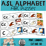 American Sign Language and ABC Puzzles