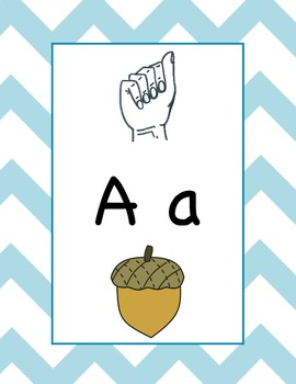 American Sign Lanugage Alphabet Posters And Word Wall Cards