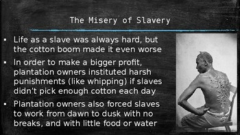 American Slavery: From Columbus to the Civil War (PPT ...