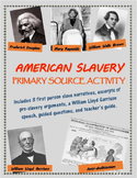 American Slavery Primary Source Activity