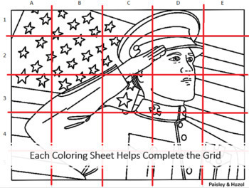 Veterans Day Activity- American Soldier Collaboration Coloring Poster