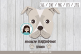 American Stafford Terrier dog svg, dxf, png, eps, jpeg