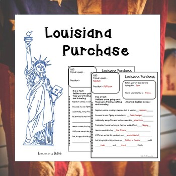 American Stories Louisiana Purchase, Lewis & Clark Note pages, study guide