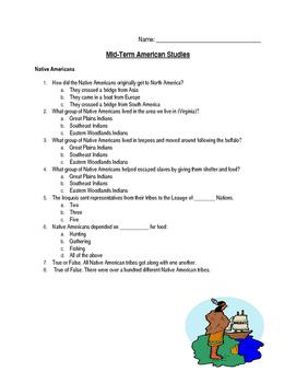American Studies Mid-Term