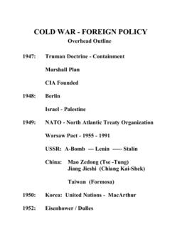 American Studies Unit 7 - The Cold War: 1945 - 1963