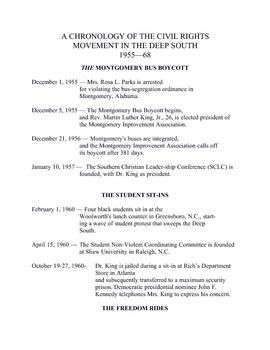 American Studies Unit 8 - The Civil Rights Struggle