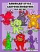 American-Style Cartoon Monsters or Aliens Clip Art Set