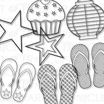 American Summer Clip Art (Digital Use Ok!)