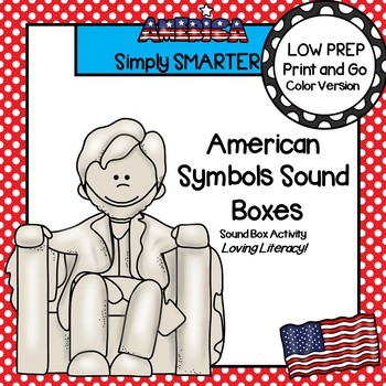 American Symbol Sound Boxes:  LOW PREP America Themed Sound Boxes Activity