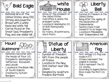 American Symbols Research Activities and Graphic Organizers