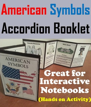 American Symbols Book-let Activity: White House, Statue of Liberty etc