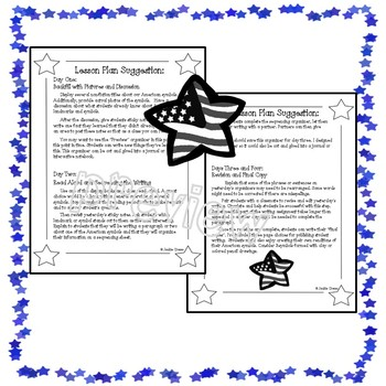 American Symbols:  A Creative Writing Activity with  Lesson Plans