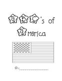 American Symbols Acrostic Book