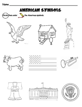 American Symbols Activity or Assessment
