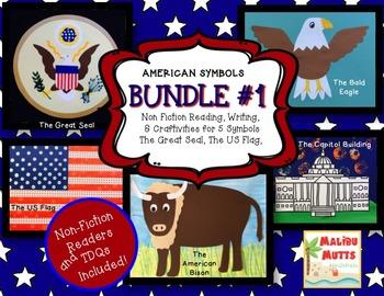 American Symbols-BUNDLE #1- 5 Nonfiction Texts & Craftivities