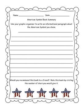 American Symbols Book Report/Informational Writing Activity