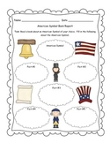 American Symbols Book Report/Informational Writing Activity