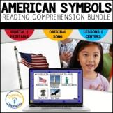 American Symbols Reading Comprehension Bundle   Boom Cards