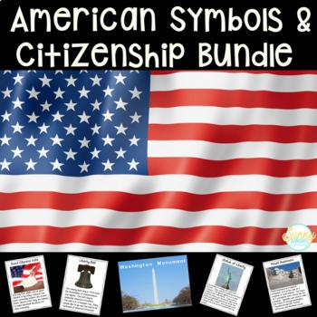 American Symbols & Citizenship BUNDLE- Close Reading & More